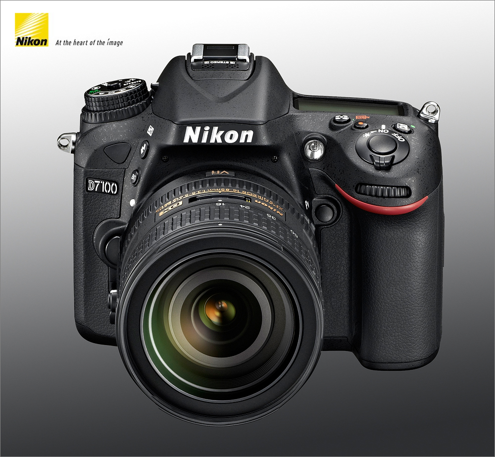 Nikon D7100 - LEFT - Front - Top